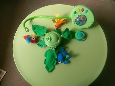 £15 • Buy Fisher-Price Rainforest Peek-a-Boo Leaves Musical Mobile