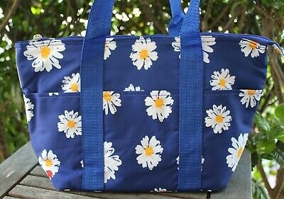 Blue Daisy Flower & Ladybug Insulated Lunch Tote Bag Travel Shopping Thermal NEW • 7.06£