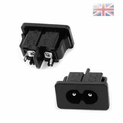 One Panel Mount IEC320 C8 Power Inlet Socket Adapter AC 250V 2.5A • 3.41£