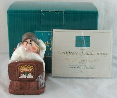 $ CDN469.95 • Buy WDCC  Hmph! I Ain't Scared  Grumpy From Fantasyland Attraction In Box With COA