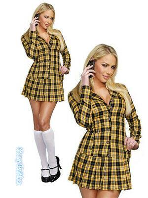 AU39 • Buy Ladies Sexy School Girl Clueless Cher 1990s Film TV Fancy Dress Costume Outfit