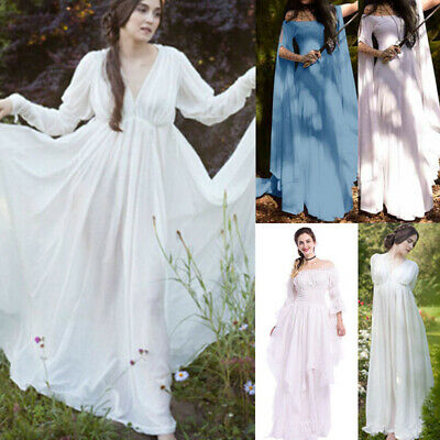 White Medieval Dress | Compare Prices on dealsan.com