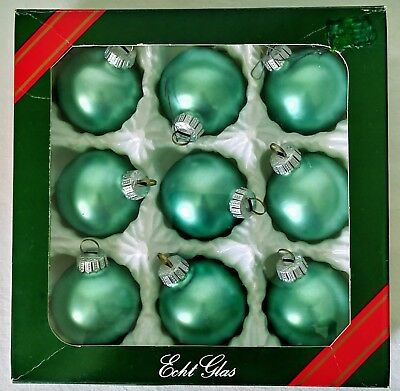 $ CDN22.95 • Buy Vintage Christmas Glass Ball Soft Green Tree Ornaments 9 In Box Made In Germany