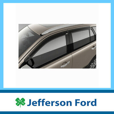 AU143.91 • Buy Genuine Ford Everest Ua Slimline Tinted Weathershields Front & Rear X4