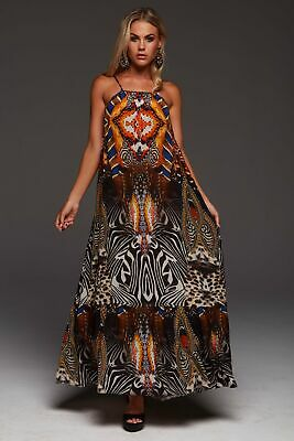 AU236 • Buy Czarina  Wild Leopard  Shoe-String Maxi Dress