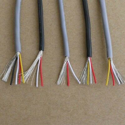 AU11.99 • Buy 2/3/4/5-Core UL2547 PVC Stranded Wire Shielded Signal Cable 22-28 AWG Black/Grey