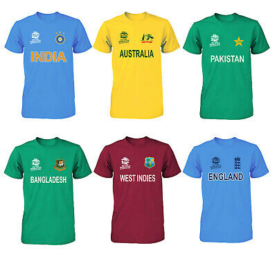 Cricket World Cup 2020 Shirt Fan Supporters T Shirt Cotton All Teams • 6.82£