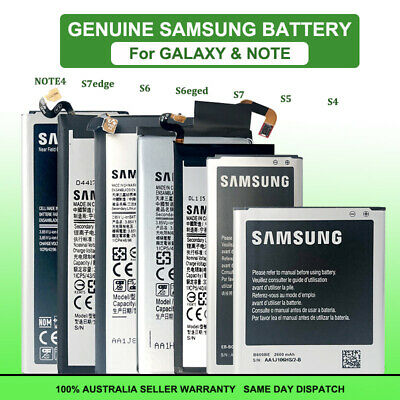 AU12.95 • Buy NEW Li-ion Replacement Battery For Samsung Galaxy S4 S5 S6 S7 Edge Note 4 5 8 9
