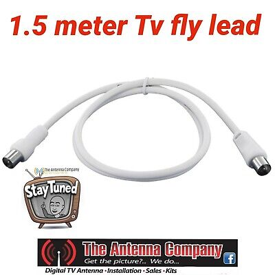 AU5 • Buy TV Antenna Cable 1.5 M White  PAL Male To Male Aerial Fly Lead Coax Hdtv Digital