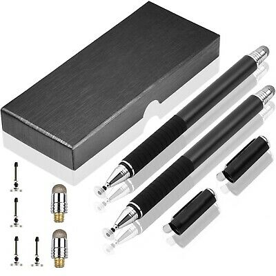 £9.30 • Buy 2X Capacitive Stylus Pen Disk And Fiber Tip For IPad IPhone & All Touch Screens