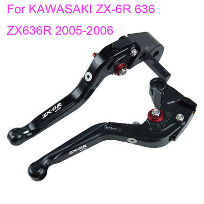 $31.50 • Buy Folding Extendable Brake Clutch Levers For KAWASAKI ZX-6R 636 ZX636R 2005-2006