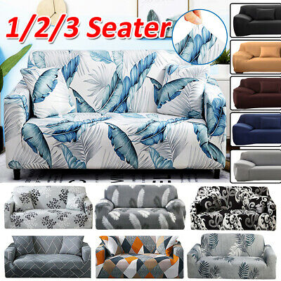AU23.91 • Buy 1 2 3 Seater Stretch Sofa Cover Couch Lounge Recliner Chair Slipcover Protector