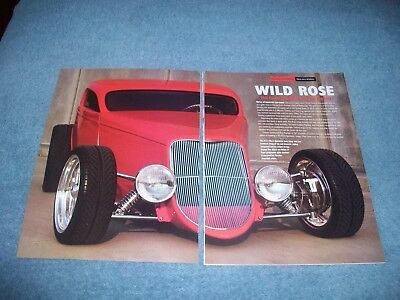 AU17.28 • Buy 1933 Ford Rat's Glass Speedstar Coupe Street Rod Article  Wild Rose