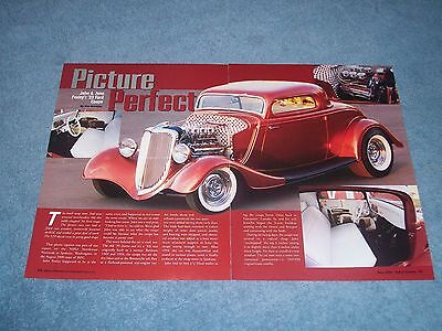 AU15.84 • Buy 1933 Ford 3-Window Coupe Retro-Style Hot Rod Article  Picture Perfect