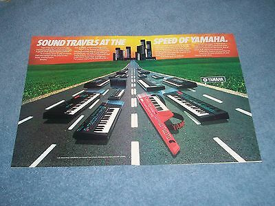 AU14.09 • Buy 1987 Yamaha Electric Keyboard Vintage 2pg Ad  Sound Travels At The Speed Of