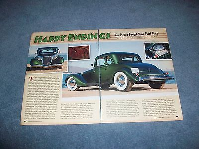 AU14.40 • Buy 1933 Ford 5-Window Coupe Custom Hot Rod Article  Happy Endings