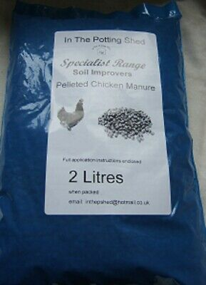 Chicken Manure Pelleted 2 Litres • 3.15£