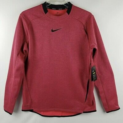 1b76f4911 Nike Mens Therma Golf Pullover Crew Top Shirt Red Black 854491 653 MSRP $70  • 35.66