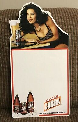 $ CDN52.85 • Buy King Cobra Malt Liquor Hot Girl Metal Beer Sign 1995 Anheuser Busch Inc.