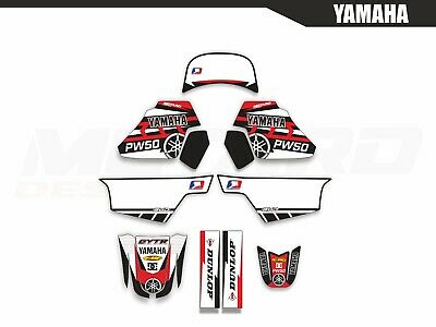 AU134 • Buy Yamaha PW 50 Red Motocross Graphics Kit Decals Stickers MX Dirtbike 1990 - 2018