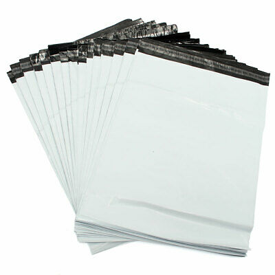 £4.99 • Buy 50 MIXED MAILING BAGS WHITE PARCEL PACKAGING 12 X 16 And 10 X 14 Cheapest By Far