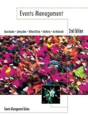£15 • Buy Events Management By William O'Toole, Johnny Allen, Glenn A. J. Bowdin, Ian...