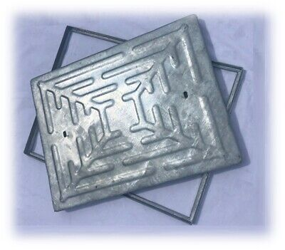 MANHOLE COVER & FRAME 600x450mm - All Steel Lid And Frame  Access Cover • 18.99£