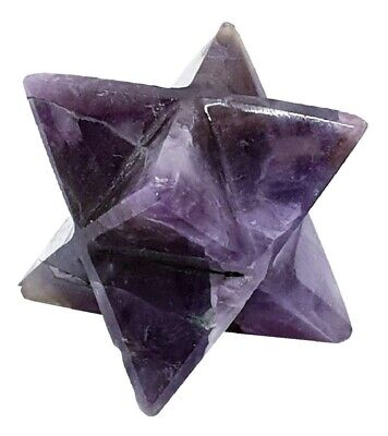 Amethyst Merkaba Natural Energy Charged Stops Excesses Confidence Stone Quality • 3.60£