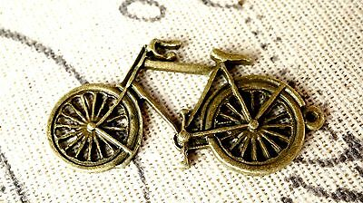 Bicycle Charm 2 Antique Bronze Vintage Style Pendant Bike Charm C123 • 2.99£