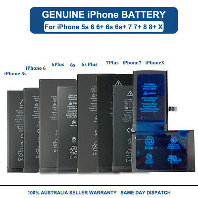 AU12.82 • Buy NEW Li-ion Replacement Battery For IPhone 5s 6 6s Plus 7 8 Plus X FULL Capacity
