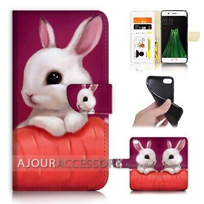 AU12.99 • Buy ( For Oppo A57 ) Wallet Flip Case Cover AJ40176 Rabbit