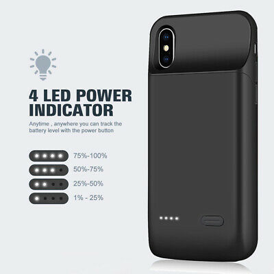 AU52.24 • Buy Stamina Slim Fast Charging Battery Case For IPhone 6 6S 7 8 Plus X XS XR 11 Pro