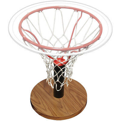 $169.99 • Buy End Table Basketball Rim Glass Sports Furniture Living Room Indoor Home Decor