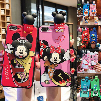 AU7.89 • Buy Cute For IPhone 12 11 Pro XS Max S10 Minnie Mouse KT Cat Doll Strap Holder Case