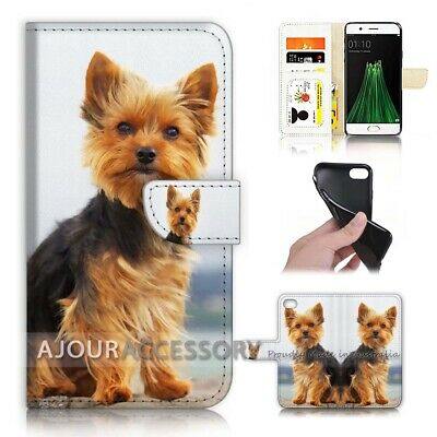 AU12.99 • Buy ( For Oppo A57 ) Wallet Flip Case Cover AJ40219 Cute Dog