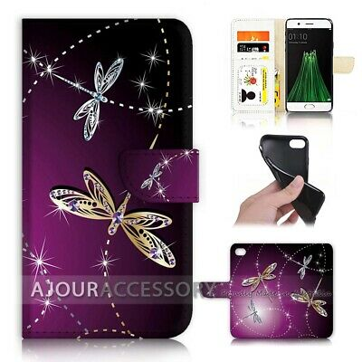 AU12.99 • Buy ( For Oppo A57 ) Wallet Flip Case Cover AJ40232 Bling Dragonfly