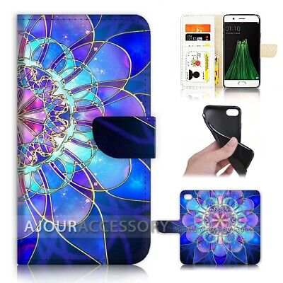 AU12.99 • Buy ( For Oppo A57 ) Wallet Flip Case Cover AJ40387 Abstract Flower