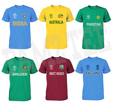 £10.17 • Buy Cricket World Cup 2019 Jersey T Shirt 100% Cotton Tee