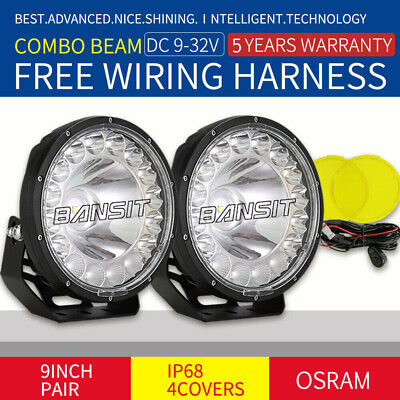 AU138.59 • Buy OSRAM NEW 9 Inch LED Driving Lights 99880LM Combo Black Offroad 4WD Work Truck