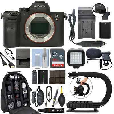 AU2834.28 • Buy Sony Alpha A7R III Mirrorless 42MP Digital Camera Body + 64GB Pro Video Kit