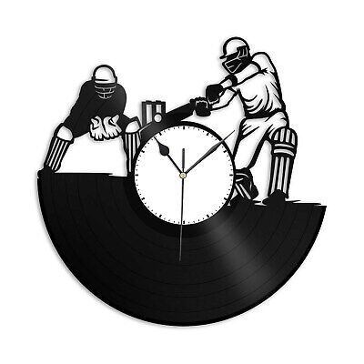 £42.49 • Buy Cricket Vinyl Wall Clock Sports Lovers Unique Gift Home Living Room Decoration