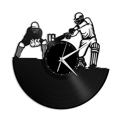 £42.49 • Buy Cricket Vinyl Wall Clock Sports Lovers Friends Unique Gift Home Room Decoration