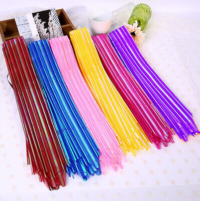 10pcs Hot 50cm Ribbon Wedding Flower Pull Bows Birthday Party Present Gift Decor • 0.99£