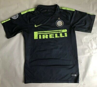 NIKE INTER MILAN PIRELLI SOCCER JERSEY (THUNDER BLUE/VOLT) Size Small • 24.99$