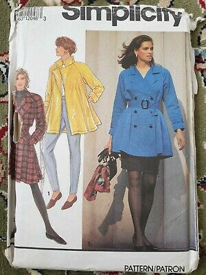 Simplicity 7627 Sewing Pattern Ladies Jacket Mac Dressmaking 6 8 10 12 UNCUT • 4.99£