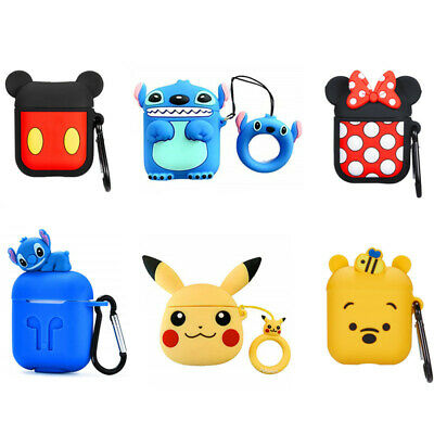 £3.50 • Buy Disney Minnie Winnie Stitch Earphone Case Cover For Apple Airpods 1 2 Charger