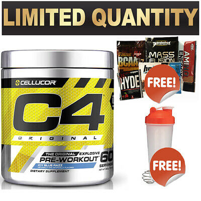 AU448.90 • Buy Cellucor C4 Id 60 Serve Pineapple Pre Workout C4 Original Energy Creatine Shaker