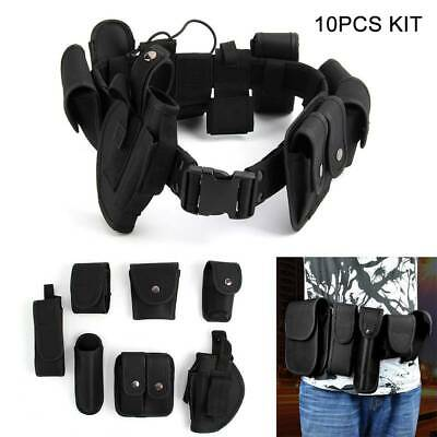 Tactical Belt 9 Pouches Army-Police-Guard Outdoor Camping Treckking Utility New  • 10.99£