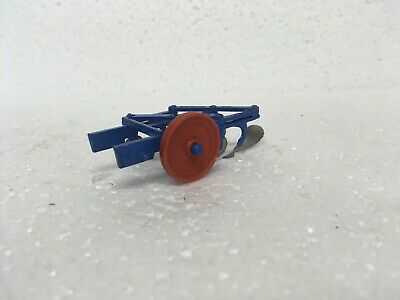 Britains - Scarce Early 3 Furrow Plough With Red Wheel, Excellent Condition 173F • 15£