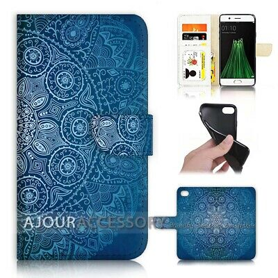 AU12.99 • Buy ( For Oppo A57 ) Wallet Flip Case Cover AJ40658 Mandala Design